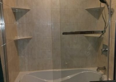 Tub Conversion With Sliding Doors