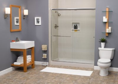 zz white 4x4 shower